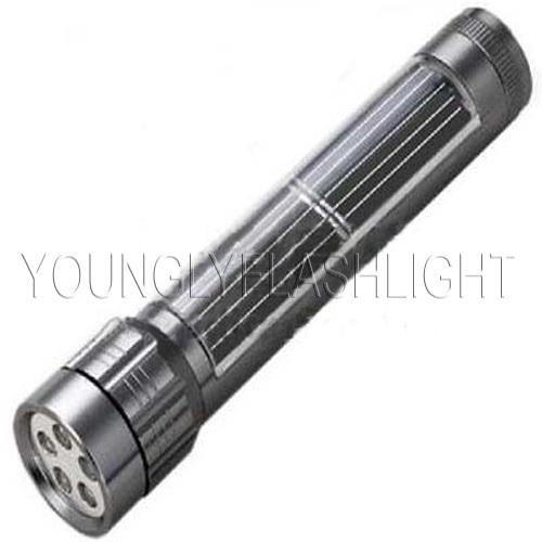 5 LEDs Solar Metallic Torches