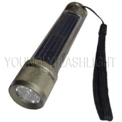 5 LEDs Solar Flashlight