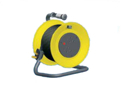 overhead cable reel power cables