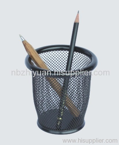 Round Metal Mesh Pen container