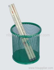 Green Wire Mesh Pen Cup