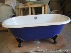 color clawfoot bathtub