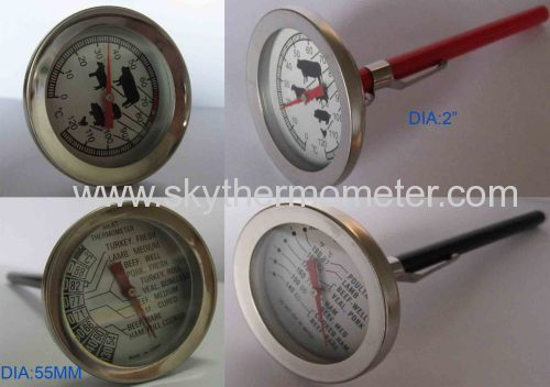"""2"""" barbecue thermometer"""