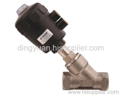 Angel seat valves