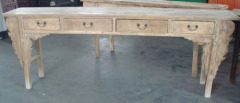 old elm console table