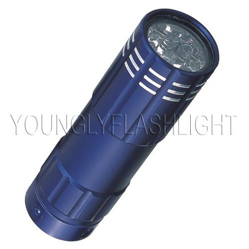 9 LEDs portable aluminum mini flashlight
