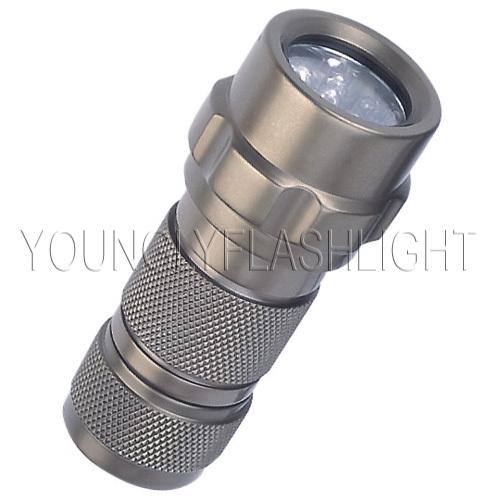 12 LEDs metallic portable flashlight