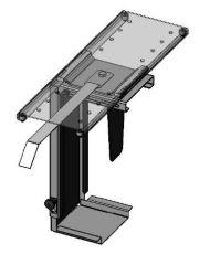 Height adjustable cpu holder