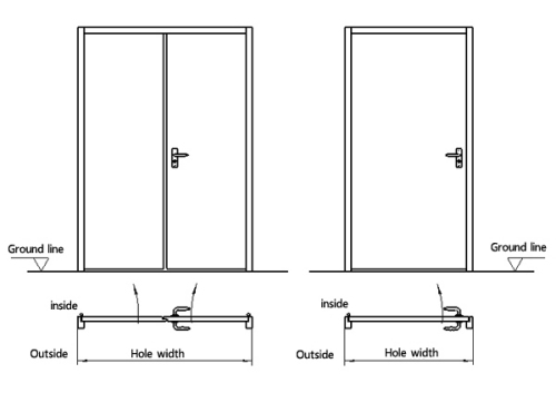 Hospital Swing Door From China Manufacturer Ningbo