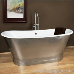 cast iron bathtub include apron
