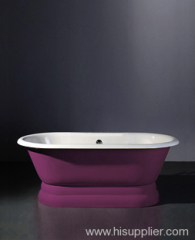 roll top pedestal cast iron bathtub