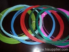 Colored pvc coated wire