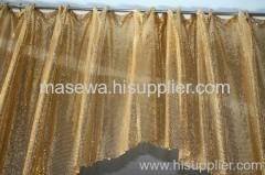 Metallic coil mesh curtains