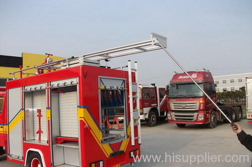Telescopic ladders support