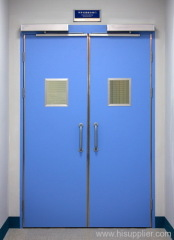 double open automatic swing steel doors for hospitals