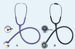 Single head stethoscope with clock