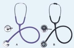 Single head stethoscope with clock