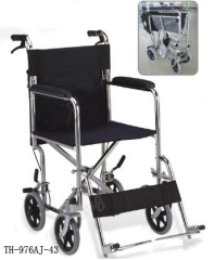 Stainless steel Transport Wheelchair