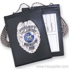Leather Neck Chain Badge Holder/ Neck Wallet/ Card ID Wallet/ Badge Wallet