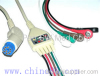 Artema/S&W one piece five lead ECG cable and leadwire