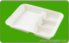 Decomposable bagasse sushi tray ,disposable dinnerware