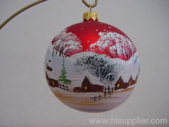painted glass ball , hand painting glass ball