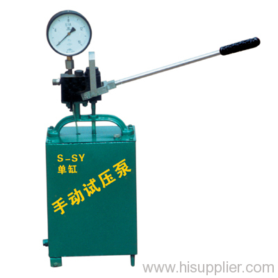 manual test pump