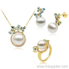 2012 Hotsale 18K Yellow Gold Pearl Sets