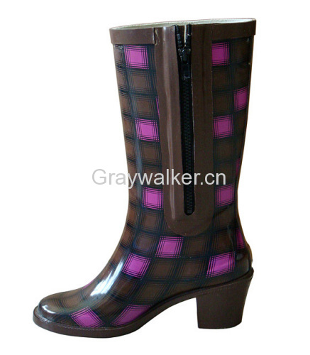 ladies fashion rubber boot