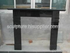Black stone Fireplace