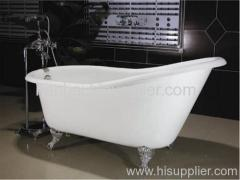 60''cast iron slipper bath on imperial feet