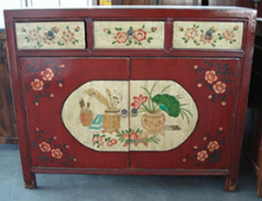 Mongolia reproduction painted cabinet