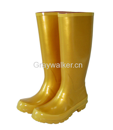 Ladies' Rubber Boots In Golden