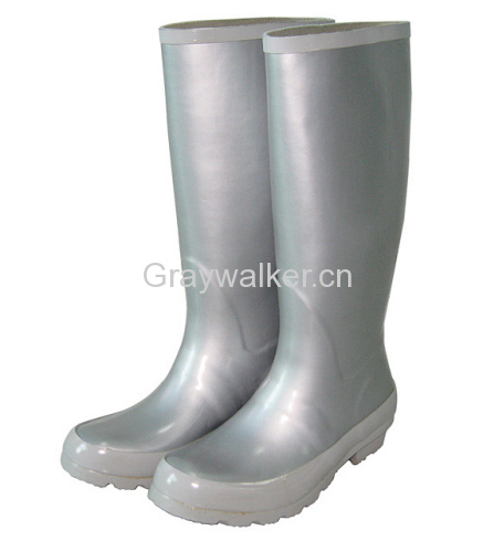 Ladies' Rubber Boots In Argent