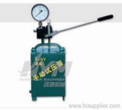 Simplex manual hydraulic test pump
