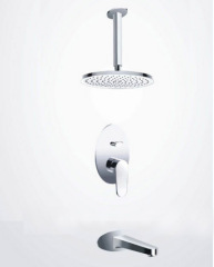 Concealed shower faucet