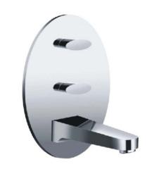 Wall mounted 3 holes Basin Faucet