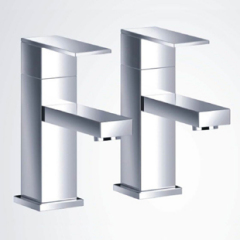 Cubic Bath Pillar Taps