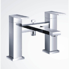 Decked Mounted Cubic Bath Shower Mixer