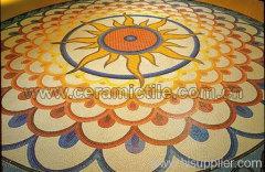 Glass Art Mosaic, Glass Mosaic Floor Tile