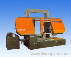 Double-column portal horizontal band-sawing machine