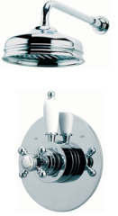 Dual control thermostatic shower valve