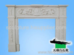 Stone Carving Sculpture Fireplace