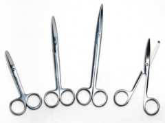 Stainless steel surgical scissors