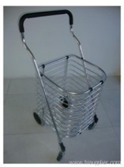 4 Wheels Aluminium Shopping Basket