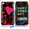 Red Hearts Two Parts Front and Back Clip-on Hard Case Cover