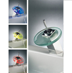LED Light Basin Mixer