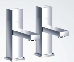 Cube Bath Pillar Taps