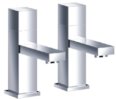 Cubic Basin Pillar Taps
