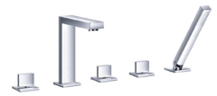 Square Deck mounted Bath Shower mixers